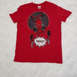 Marvel Deadpool Graphic Taco Spell Out Shirt G10